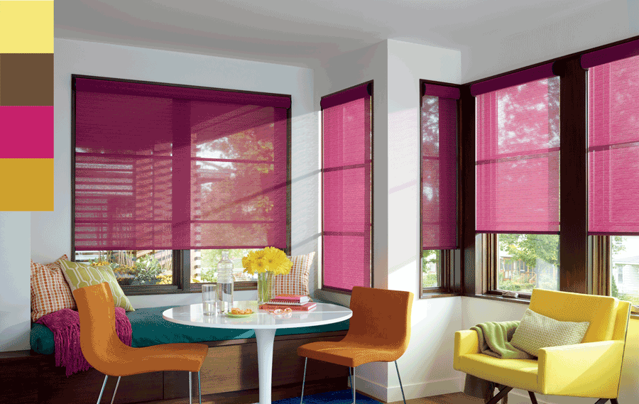 trending colors of 2019 roller shades dining room Hunter Douglas Austin 78758