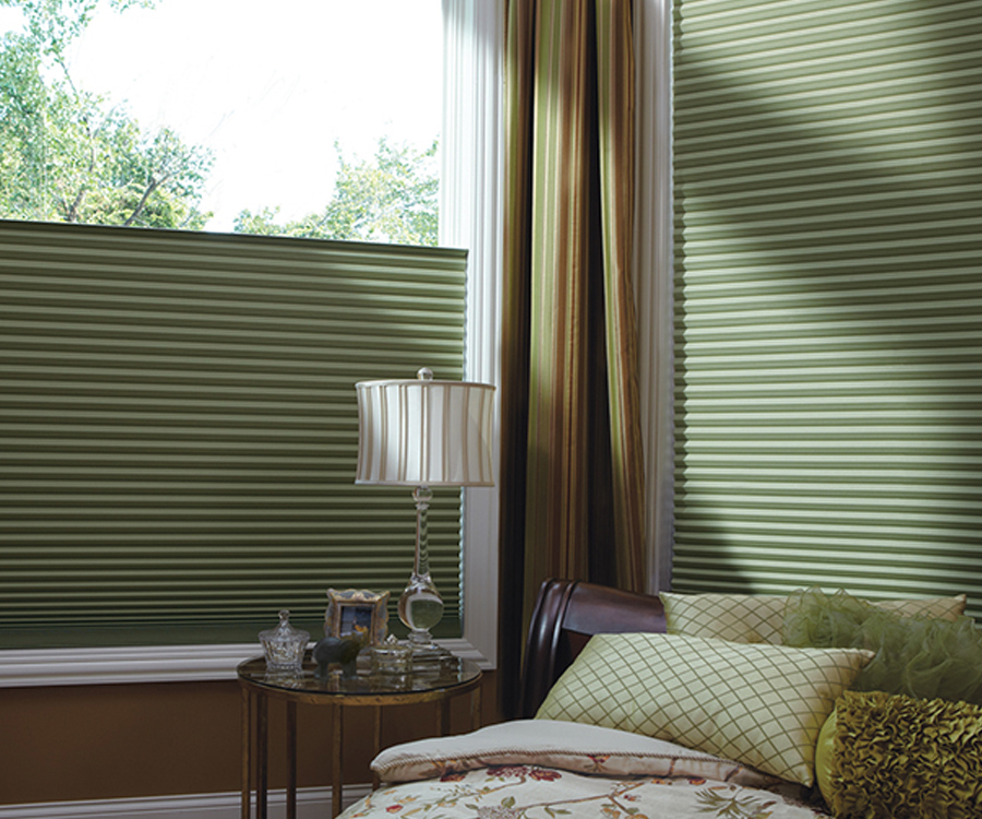 green architella duette honeycomb shades Hunter Douglas Austin 78758