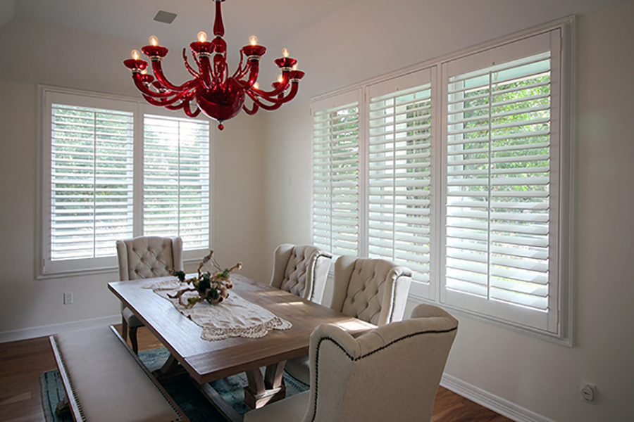 dining room plantation shutters Hunter Douglas Austin 78758