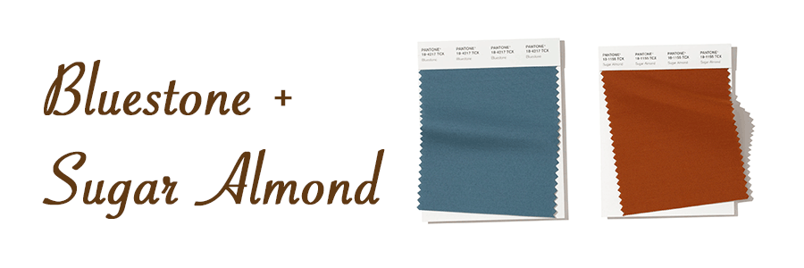 bluestone and sugar almond spring color pairings Hunter Douglas Austin 78758