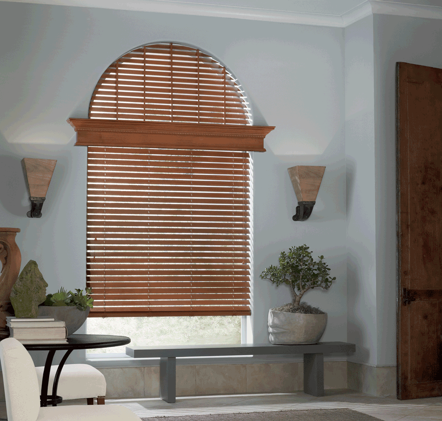 arched window blinds full coverage Hunter Douglas arched window blinds Austin TX
