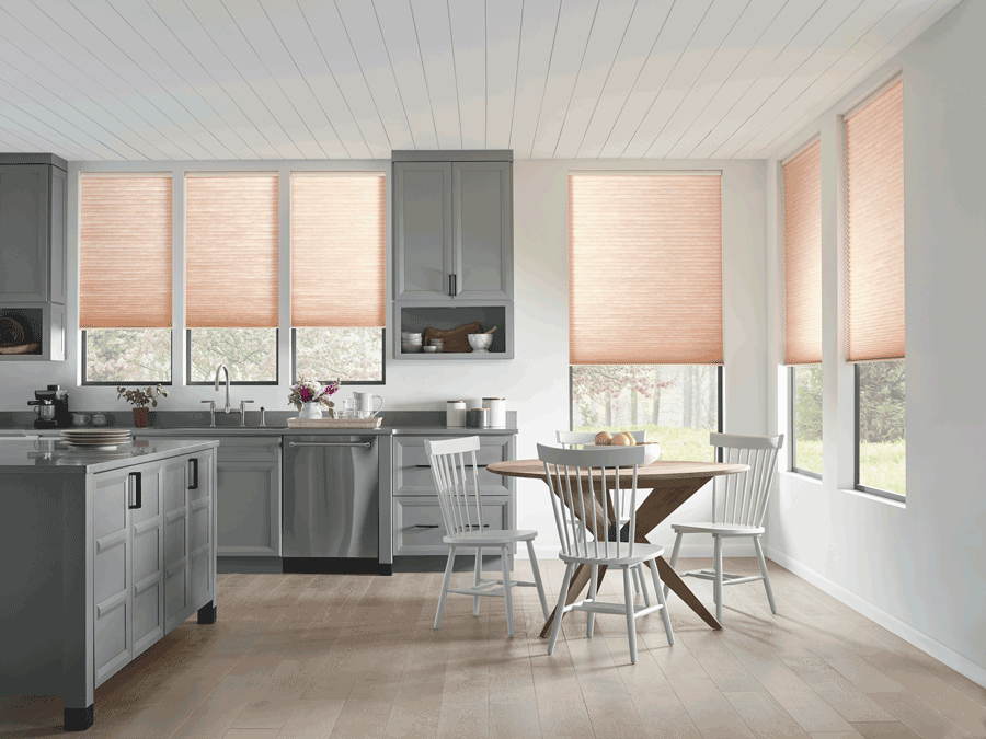 kitchen cellular shades motorized shades Austin TX