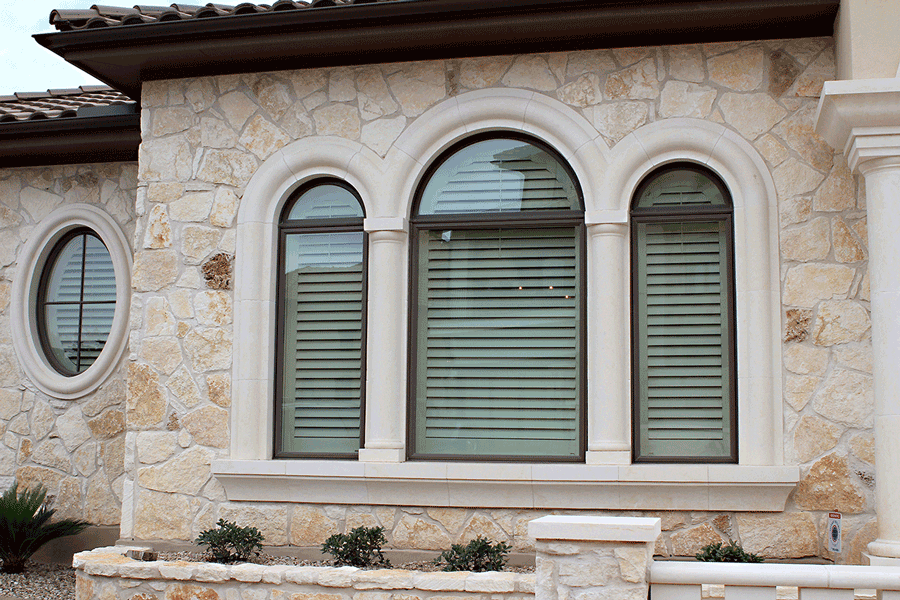 Exterior benefits of plantation shutters.