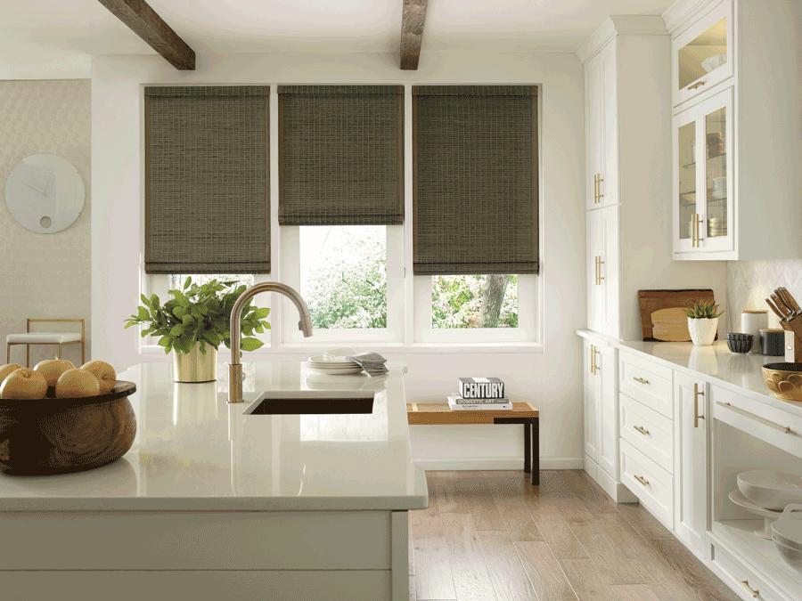 woven woods ideal for farmhouse window treatments austin tx