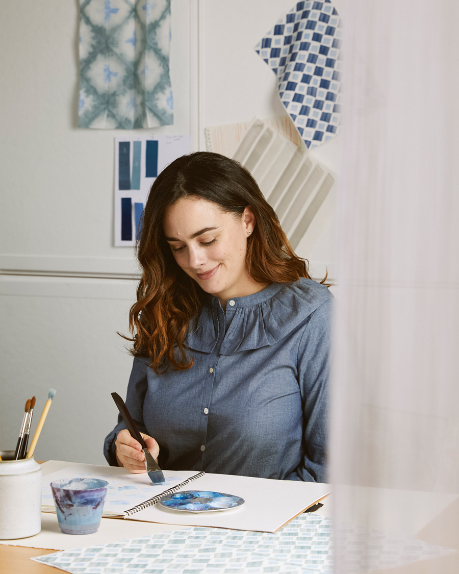 The Brooklyn based artist has taken inspiration from her childhood in Cape Cod.