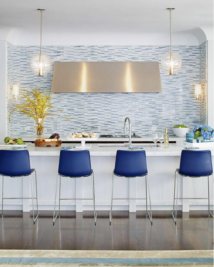 blue backsplash color of the year 2020 kitchen