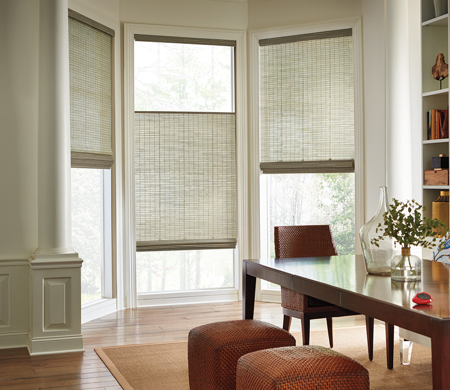 beige dining room with top down bottom up shades austin window fashions