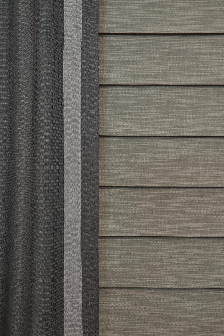 room darkening shades with side drapery panels Austin TX