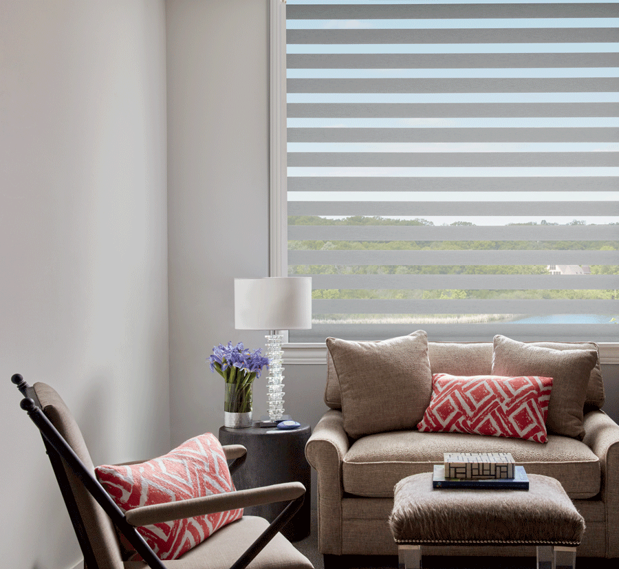 the base roller shade when you layer window treatments Austin TX