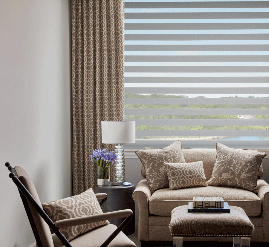 drapery panels to layer window treatments Austin TX