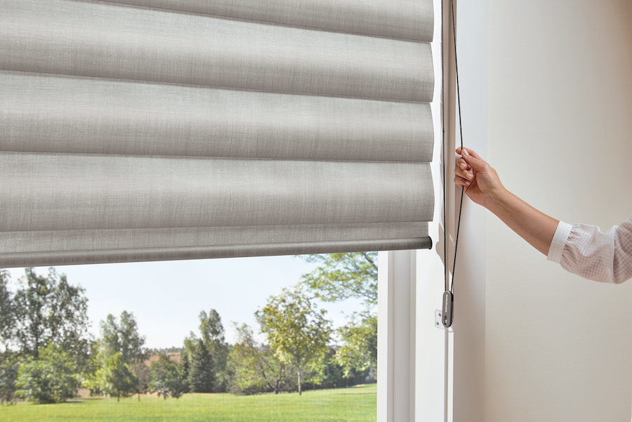 Safe corded blinds option: continuous cord loop.