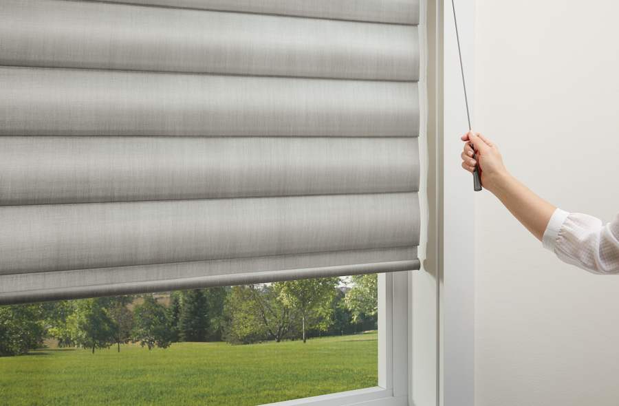Retractable cord is a safe corded blind option.
