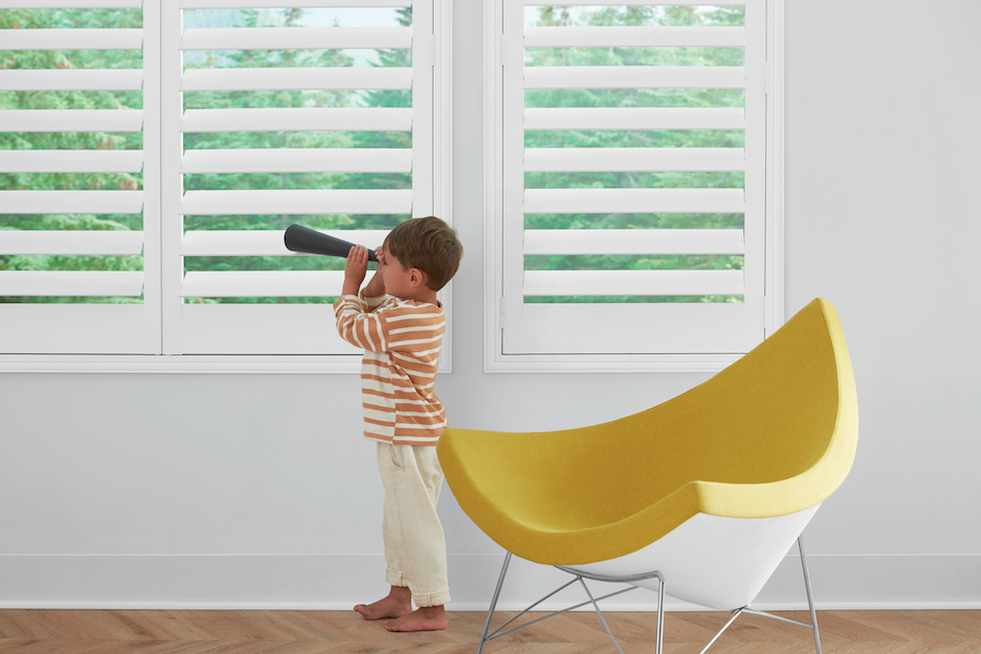 Think shutters when it comes time to learn how to childproof.