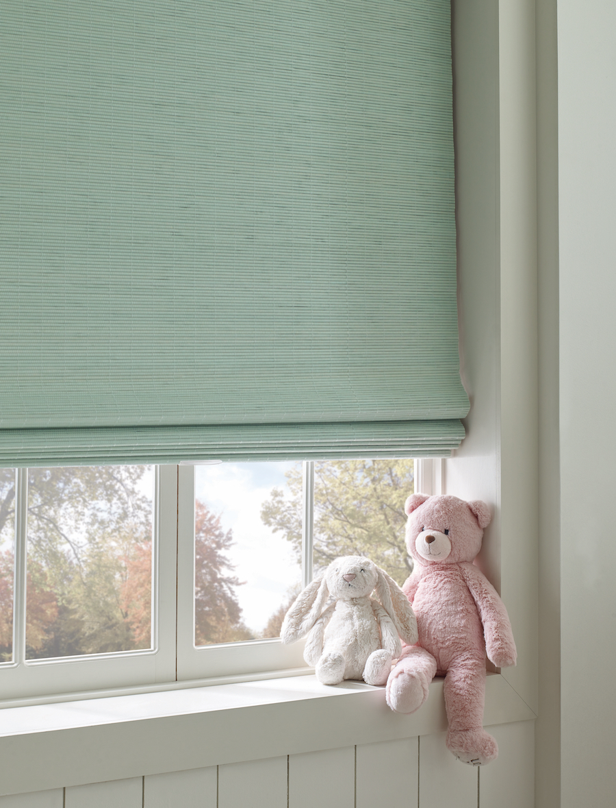 How to childproof with cordless window shades.