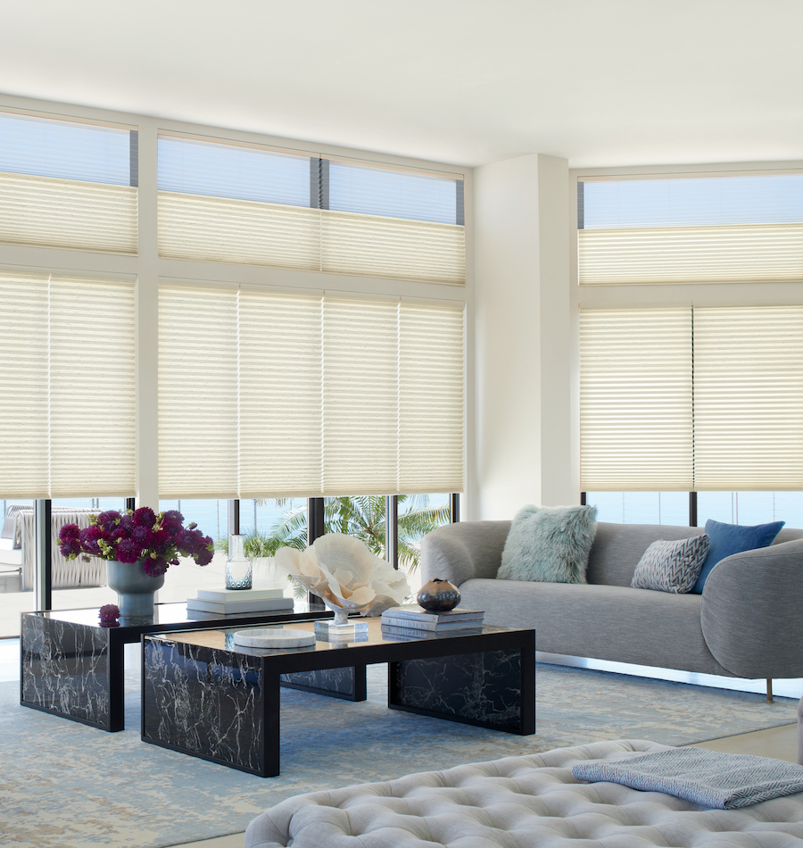 Automated shades living room austin TX