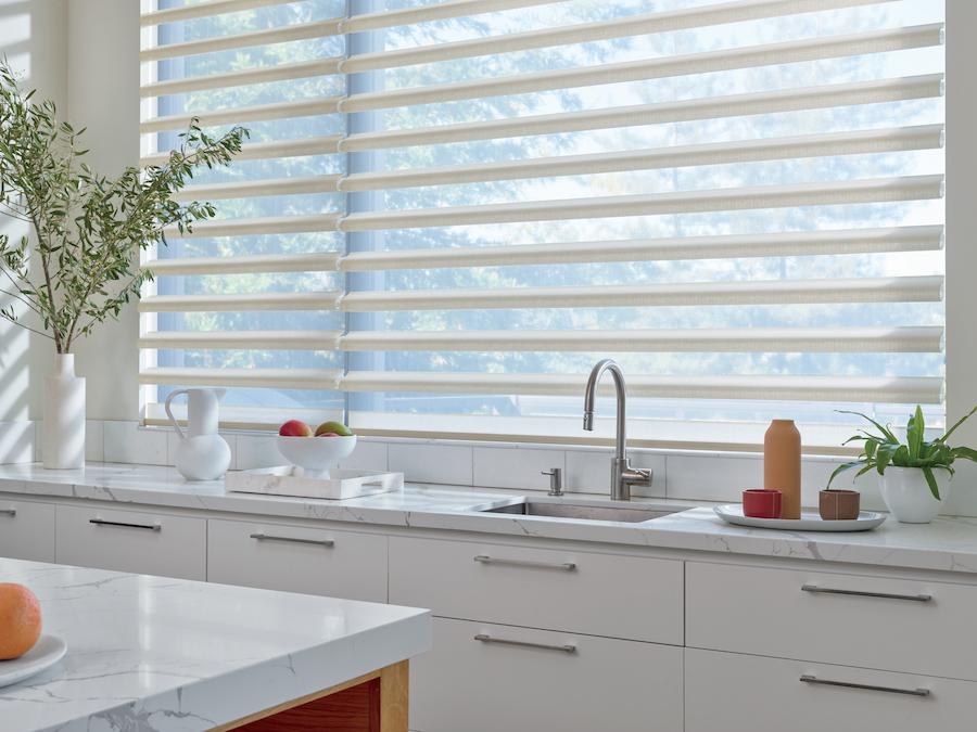 Energy efficient sheer shades kitchen Austin TX