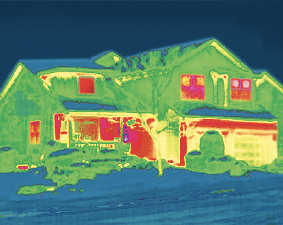 whole house visual of thermal effect