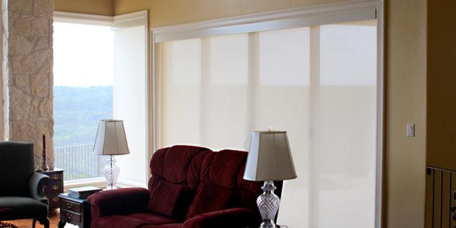 roller shades will cover sliding glass doors Austin 78738