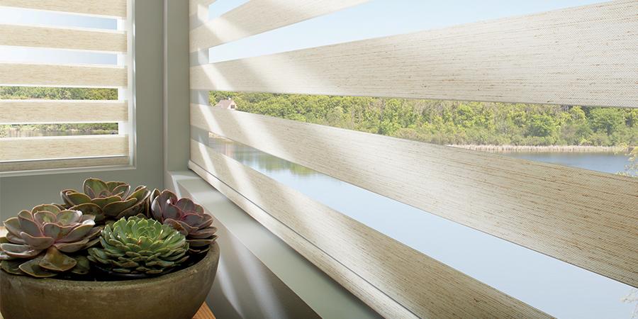 banded shades for coastal decor design ideas Hunter Douglas Austin 78758
