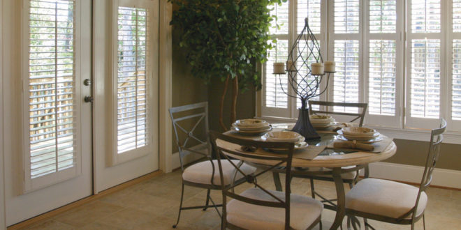 fall solutions dining room shutters Hunter Douglas Austin 78758