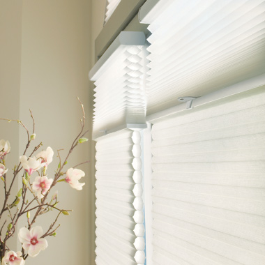cellular honeycomb shades in bathroom in Austin TX