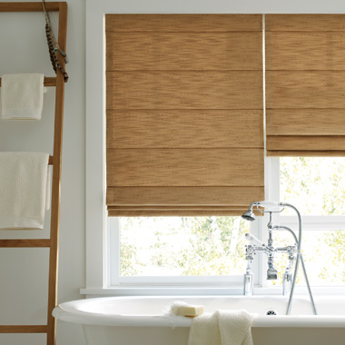 bathroom custom roman shades Austin TX