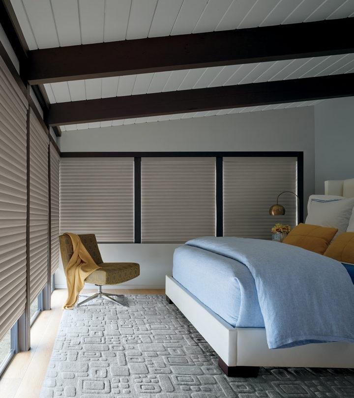 Texas bedroom with room darkening shades Austin 78731