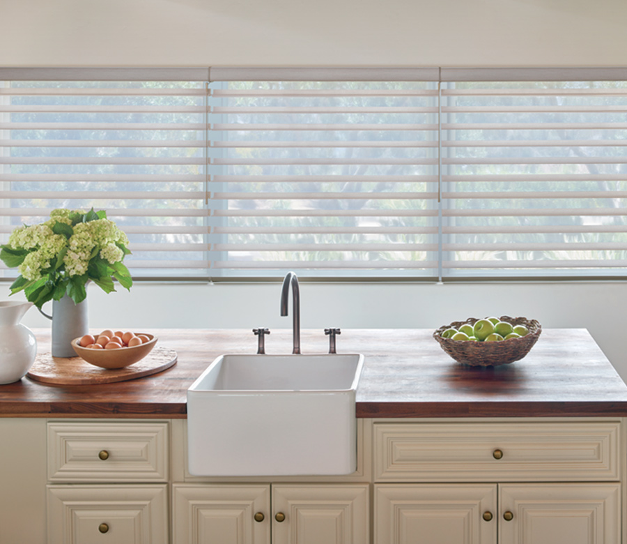 kitchen Hunter Douglas silhouette window shades Austin TX