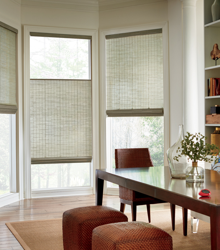 dining room top down bottom up shades Hunter Douglas Austin 78738