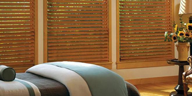 wood bedroom blinds for your home Hunter Douglas Austin 78758