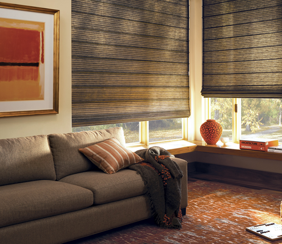 brown roman shades Austin TX