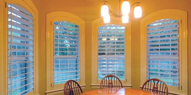 living room plantation shutters seamless fit Hunter Douglas Austin 78758