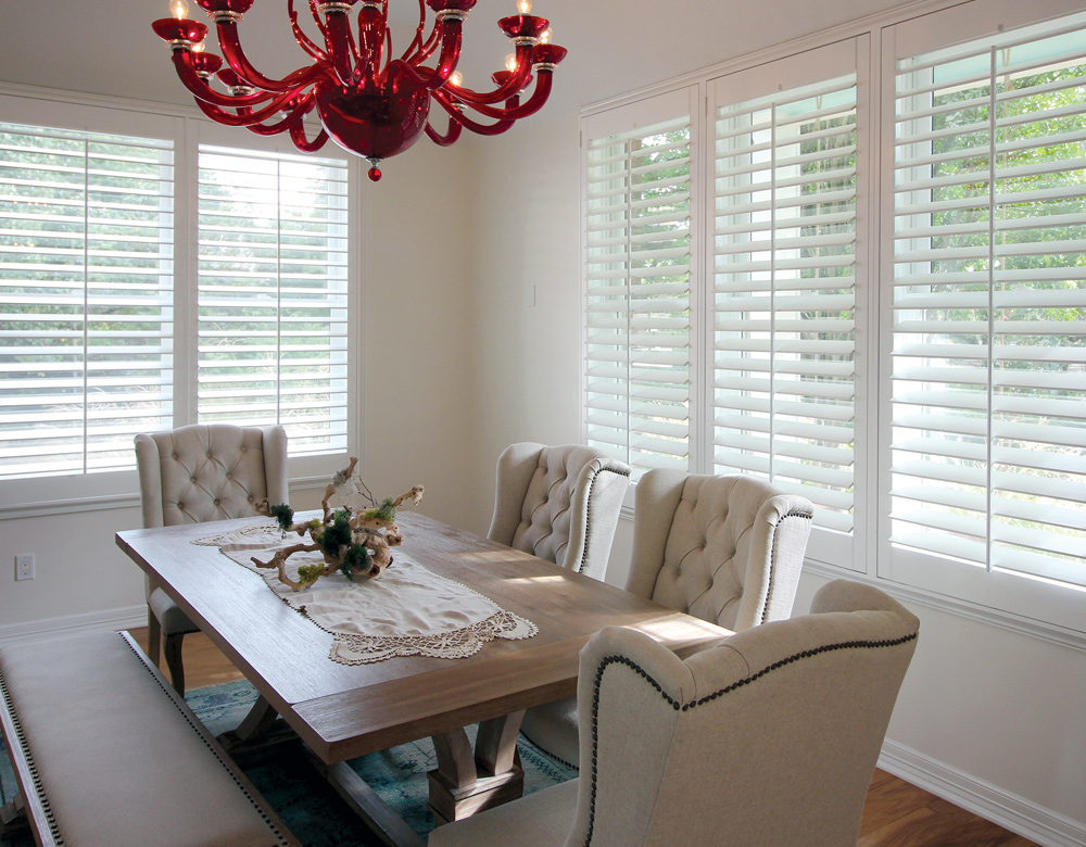 dining room austin window fashions interior window shutters Austin 78738