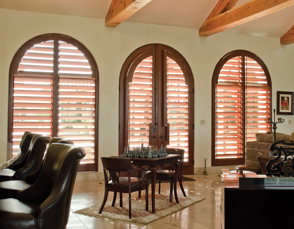Austin Window Fashions wood shutters for arched windows interior window shutters Austin 78731