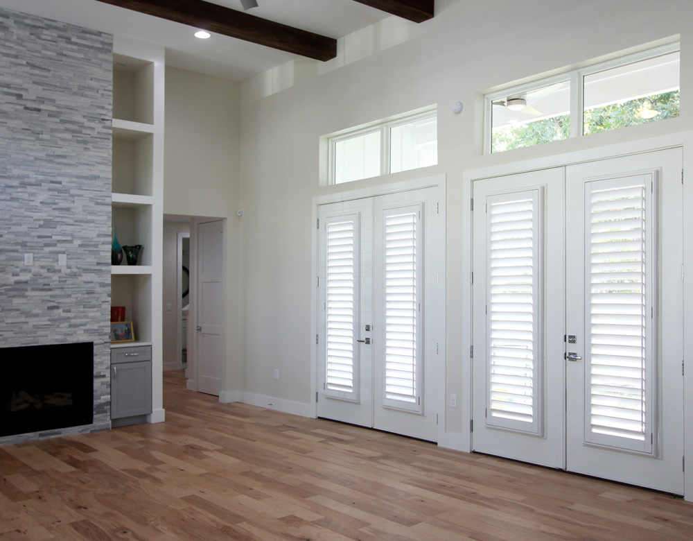 Austin Window Fashions plantation shutters for french doors Austin 78738