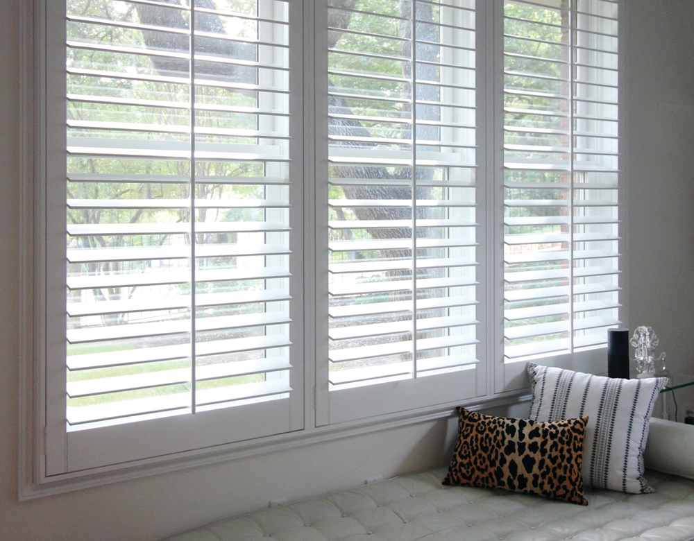 Austin Window Fashions white custom plantation shutters Austin 78731