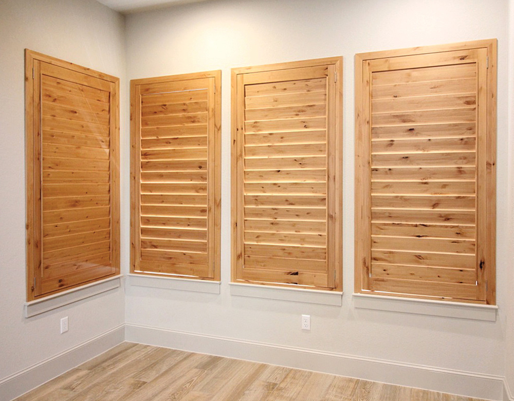 natural wood shutters custom plantation shutters Austin 78731