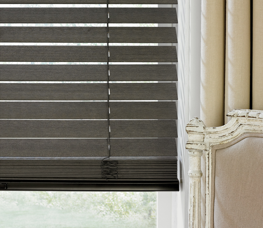 dark wood window blinds Austin TX