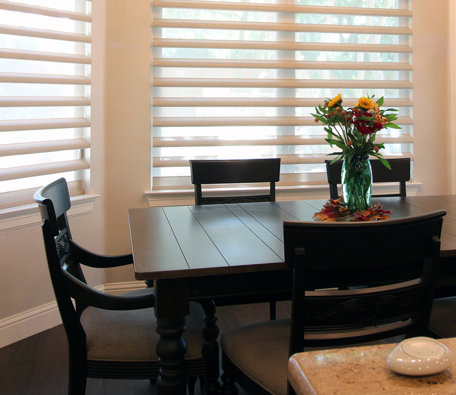 dining room pirouette shades Hunter Douglas austin 78758
