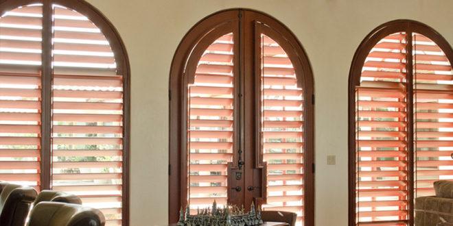 plantation shutters for arched windows Hunter Douglas Austin 78758