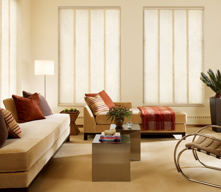 tall windows with wide panel blinds Austin TX