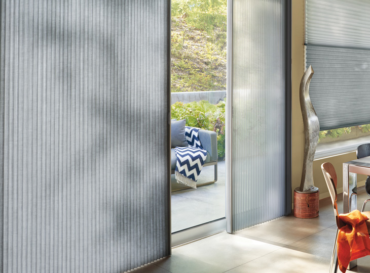 vertical cellular shades for doors Austin TX