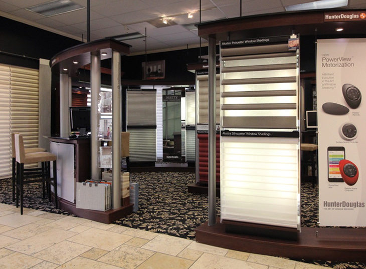 full size window displays window coverings Austin TX