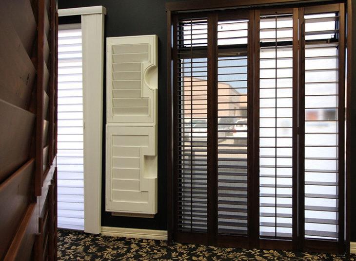 plantation shutter display window treatment showroom Austin TX