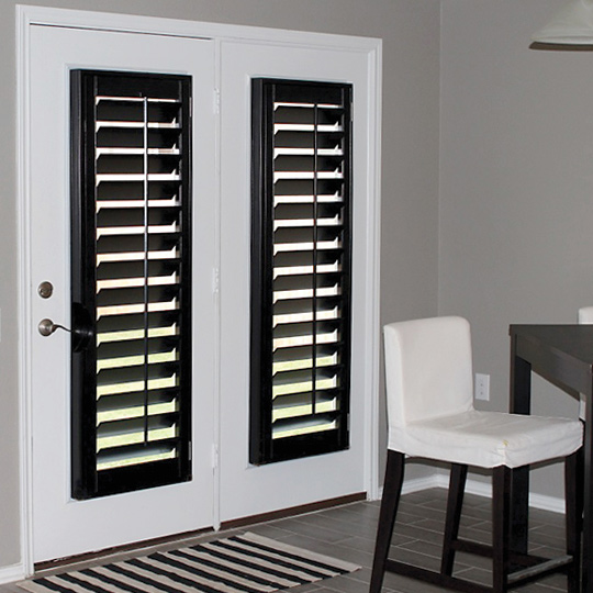 real wood plantation shutters for french doors Austin 78758