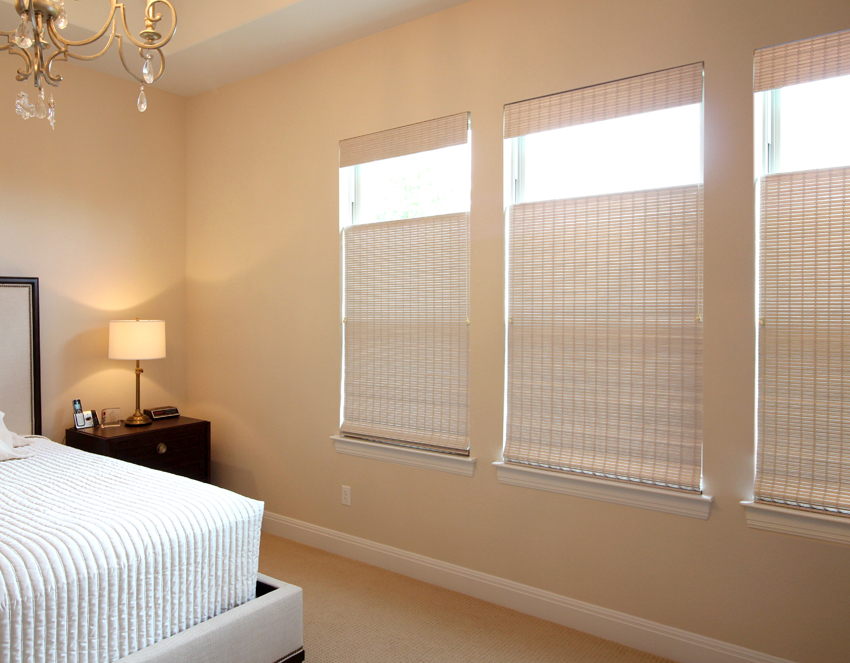 bedroom top down bottom provenance woven wood shades recent work done by Austin Window Fashions 78758