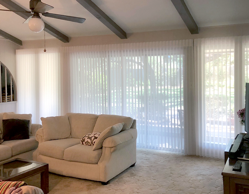 living room luminette window shades recent work done by Austin Window Fashions 78758
