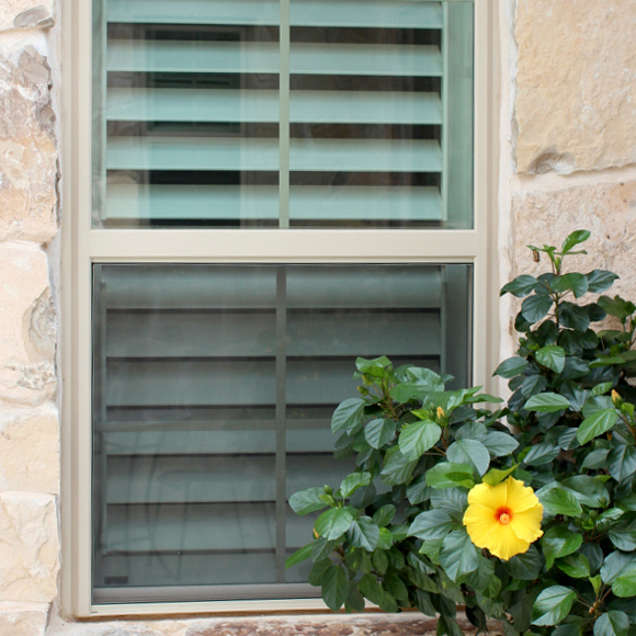 mirage dual tilt rod shutter options painted shutters Austin TX
