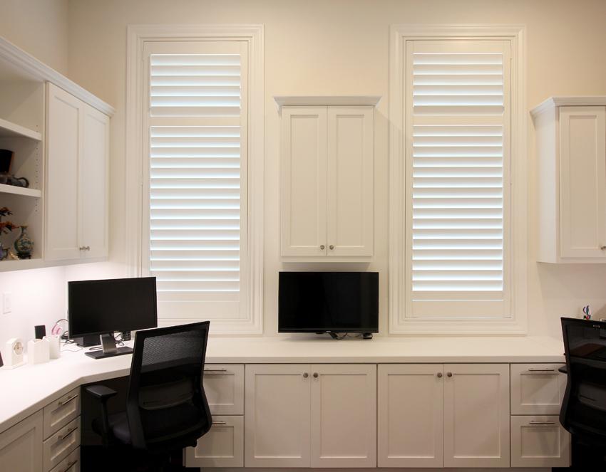 bedroom closet plantation shutters Austin 78731