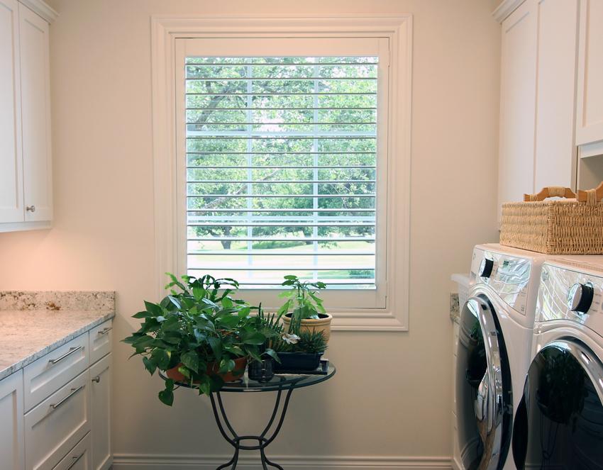 laundry room plantation shutters Austin 78758